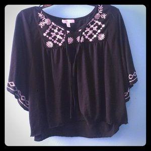 Boho poncho style crop blouse (DONATION SOON)